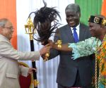 President Mukherjee with Abidjan Governor