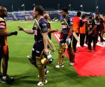 File Photo: Kolkata knight riders celebrate wins against sunrisers hyderabad during match 8 of season 13 of Dream 11 of Indian Premier League