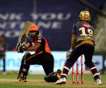 File Photo: Mohammad Nabi of Sunrisers Hyderabad plays a shot during match 8 of season 13 of the Dream 11 Indian Premier League