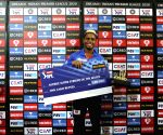 File Photo: Shimron Hetmyer of Delhi Capitals receives the Tata Altroz Super Striker of the match during the presentation of the match 11 of season 13 of the Dream 11 Indian Premier League