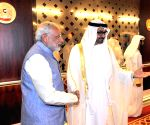Abu Dhabi (United Arab Emirates): Modi during a meeting with the Crown Prince of Abu Dhabi
