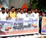 ABVP activists pay tribute to Sushma Swaraj