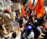 ABVP protest against Patna University senate meeting