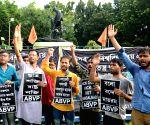 ABVP's protest against assault on Babul Supriyo