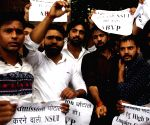 ABVP, DUSU march in DU demanding syllabus revision