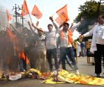 ABVP students' demonstration against Aditya Sachdeva's death