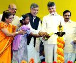 Kurnool (Andhra Pradesh): 'Bharat Yatra' - Kailash Satyarthi, N.Chandrababu Naidu
