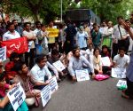 Demonstration against the arrest of DU professor G N Saibaba