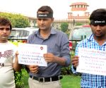 Demonstration against Supreme Court's stay in Nirbhaya case
