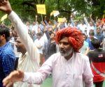 Activists from Thakore-Kshatriya Samaj at stop on telecast of a TV Serial 'Jodha Akbar