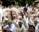 Activists from the Jat community during a demonstration for 'Jat reservation'