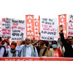 AIMSS, AIDSO & AIKKMS protest against farm laws