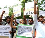 AISA protest against MP CM
