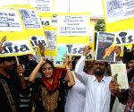 AISA's demonstration against Nirmala Sitharaman