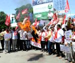 AITUC-AIYF's joint demonstration against hike in traffic fines