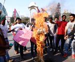 Jan Adhikar Students Union protests against PM Modi