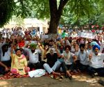 Sanjha Mulazam Manch Punjab and UT's demonstration