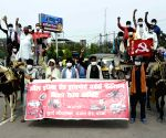 All India Road Transport Workers Federation protests against fuel price hike