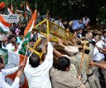Youth Congress protest against death of five Indian Army soldiers