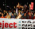 Leftist organisations protest against CAA, NRC