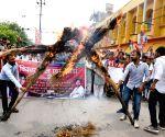 VIP's protest against Swami Chinmayanand, Santosh Kumar Gangwar