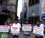 Activists' demonstration against Missionaries of Charity