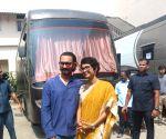 Aamir Khan, Kiran Rao seen at a Bandra studio