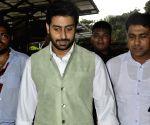 Mumbai: Abhishek Bachchan attend Siddivinayak temple Rathyatra