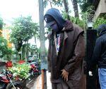 Abhishek Bachchan seen at a dubbing studio