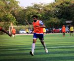 Ranbir, Abhishek seen playing football in Juhu