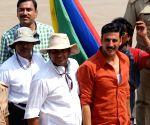 Jolly LLB 2 - shooting - Akshay Kumar, Sanjay Misra