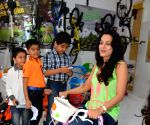 Amisha Patel at a toy store launch