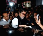 Amitabh Bachchan arrives at Kolkata Airport