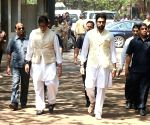 Funeral of Suniel Shetty's father