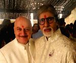 Free Photo: Anupam Kher at Amitabh Bachchan's Diwali party