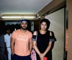Arjun Kapoor and Anshula Kapoor seen at a cinema theatre