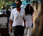 Arjun Rampal, Gabriella Demetriades seen in Bandra