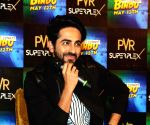 Parineeti Chopra and Ayushman Khuranna at a press meeet to promote Meri Pyari Bindu