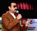 "Punjabi film ""Dushman"" - promotion - Gulshan Grover, Mahesh Bhatt"