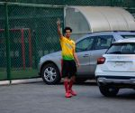 Ishaan Khatta and Adar Jain seen at football ground in Bandra