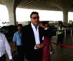 Jackie Shroff seen at airport