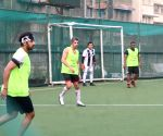 Celebs during football match at Bandra