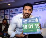 220714) Mumbai: John Abraham announces Mumbai Marathon 2015