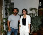John Abraham seen with Diana Penty at his office