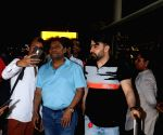 Johnny Lever, Shahroz Ali Khan seen at Mumbai Airport