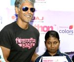 Milind Soman during Pinkathon announcement