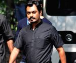 Nawazuddin shoots for his upcoming film 'Te3n' in Kolkata