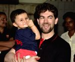 Neil Nithin Mukesh proves to be a darling dad for his munchkin Nurvi, check out his cute ponytail!