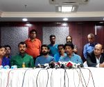 Prasenjit Chatterjee, Goutam Ghosh during a press conference
