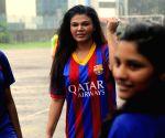 Rakhi Sawant promotes football